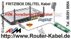 Original AVM DSL/TEL Anschlusskabel - Bild vergrößern