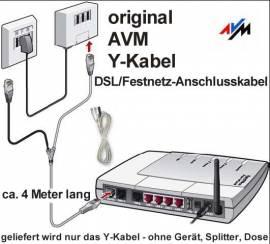 Original AVM DSL ISDN Festnetz Y-Anschlusskabel - Bild vergrößern