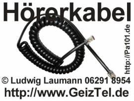 Hörerkabel schwarz - Bild vergrößern