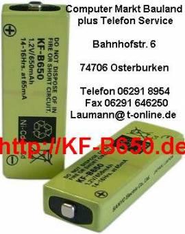 Akku zu T-Plus T-Com Telekom KF-B650 Akku Sanyo Cadnica Slim 1,2 Volt - Bild vergrößern
